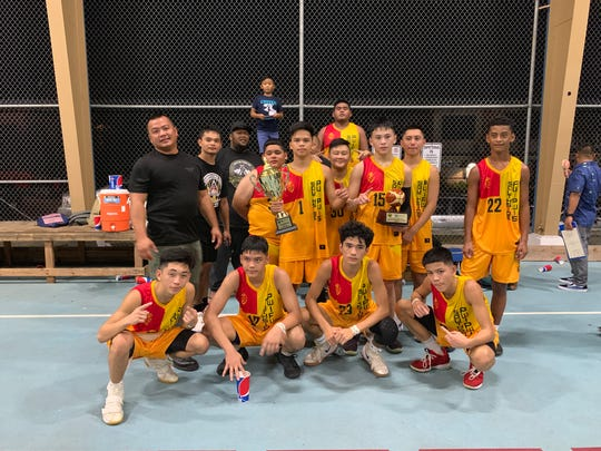 The Southside Rockers were crowned champions of the high school 9th and 10th-grade division with a 44-43 overtime victory over Yes Dear!. in the 2019 Summer Sizzle Hoops Fest Wedneday night at the Sinajana Basketball Court.