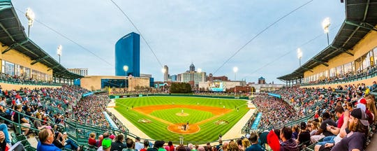 A rendering of what the  view will look like from the new Elements Financial Club at Victory Field.