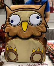 "All proceeds from this ""owlbear"" backpack go to Worldbuilders, a ""geek-centered"" nonprofit that supports various charities across the world."