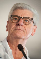A 2019 file photo of Gov. Phil Bryant speaking at the Neshoba County Fair.