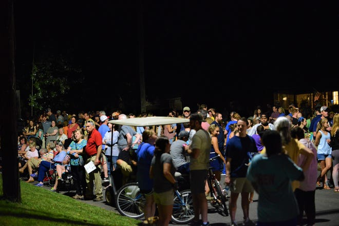 People filled the street for finale act of the 731 day Porchfest on July 31 in Jackson, Tenn.