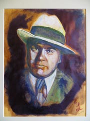 This portrait of Al Capone is among the art created since 2016 by prison inmates and shown in a new exhibit at the Alcatraz East Crime Museum in Pigeon Forge.