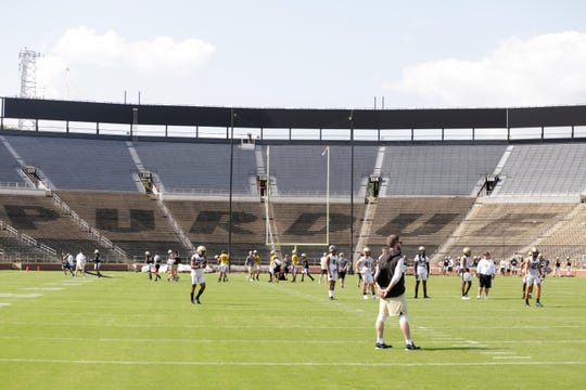 Ross-Ade Stadium during a practice, Thursday, Aug. 1, 2019 in West Lafayette.
