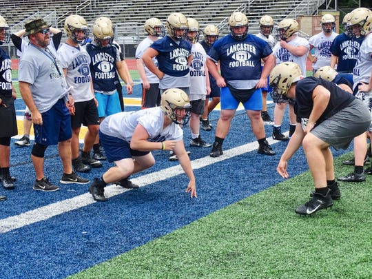 The Lancaster football team had their first official day of practice on Thursday at Fulton Field. The Golden Gales open the season against Watterson on Aug. 30.