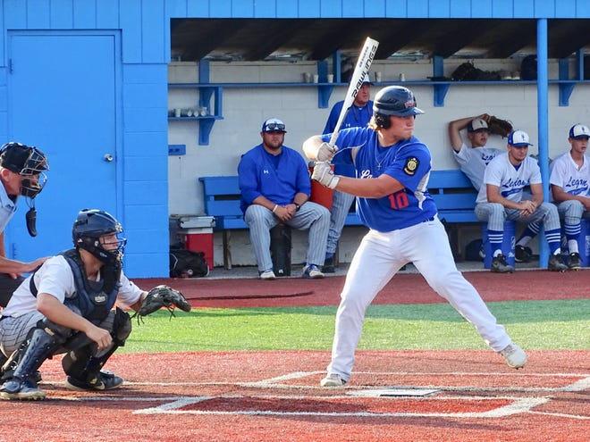 Lancaster Post 11's Chaz Dickerson had three runs batted in during Wednesday's Ohio American Legion State tournament 9-4 loss to Beverly Lowell Post 389-750