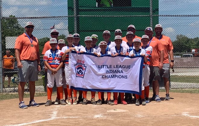 The Silver Creek Little League Major All Stars team that wonthe Indianastate title in 2019
