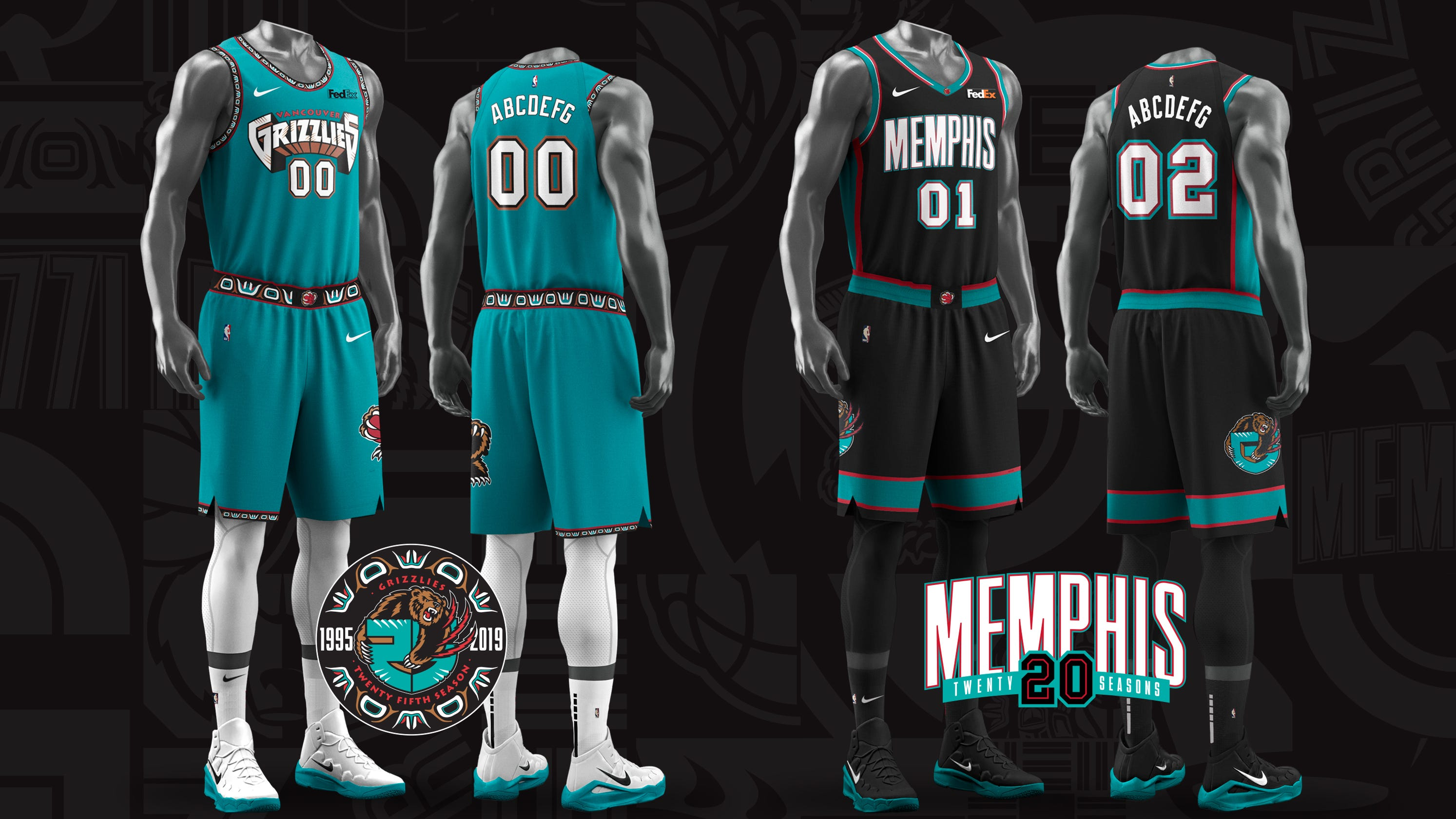 finest selection 5cf60 4914e Grizzlies reveal throwback uniforms, court for 25th season