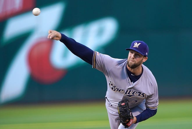 Jordan Lyles made a strong first start for the Brewers as he allowed just one run against the A's on three hits with two walks and four strikeouts in five innings.