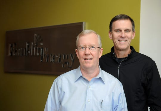Kevin McDonough (left) is president of Franklin Energy, and Paul Schueller is CEO.