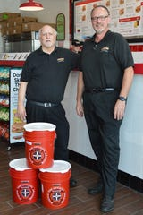 Kurt Kloba of New Berlin and Bill Rowe of the town of Brookfield met managing Sbarro at Mayfair 30 years ago. On July 30, they opened their fourth Firehouse Subs in the Milwaukee area together.