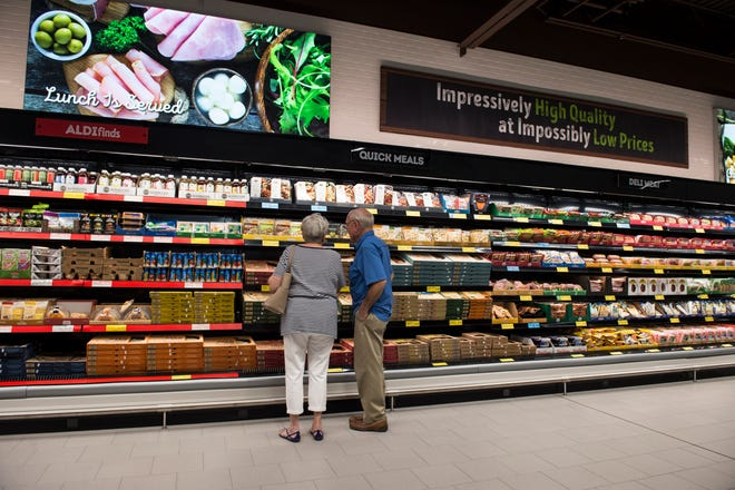 The deli section during the opening of the new ALDI grocery store in Montgomery, Ala., on Thursday, Aug. 1, 2019.