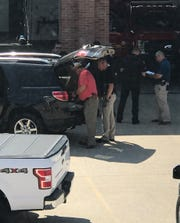 Vehicle captured at Dickson Fire Department after alleged shoplifting at Walmart on Thursday.