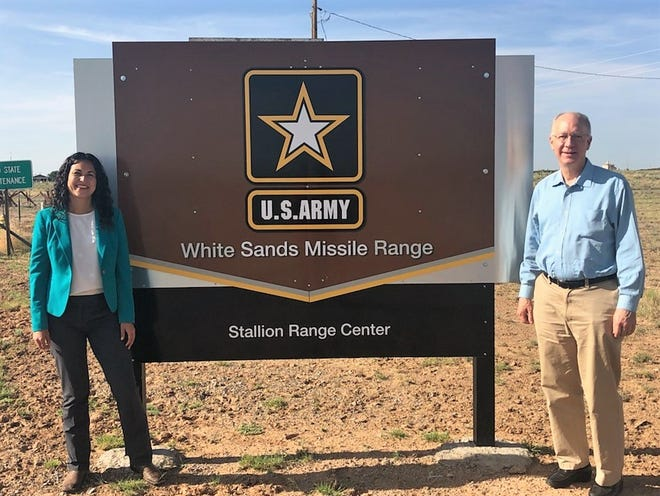 U.S. Reps. Xochitl Torres Small, D-NM, and Bill Foster, D-IL, visited White Sands Missile Range on Wednesdays, July 31, 2019.