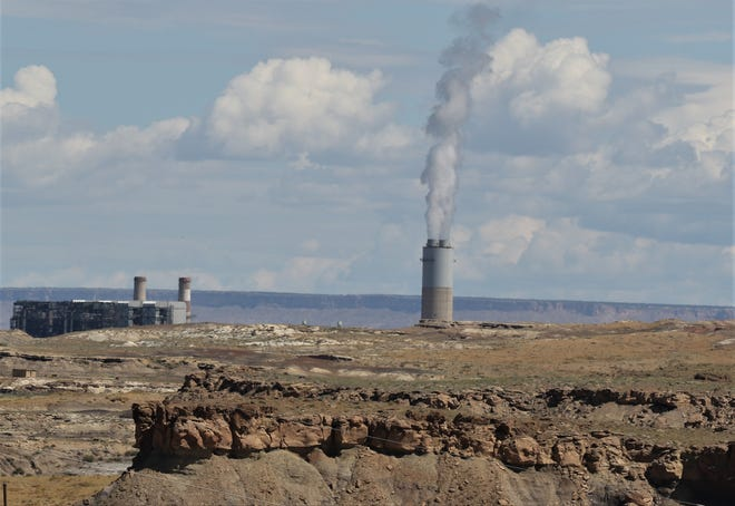Four Corners Power Plant is pictured, Thursday, Aug. 1, 2019, from Navajo Mine.