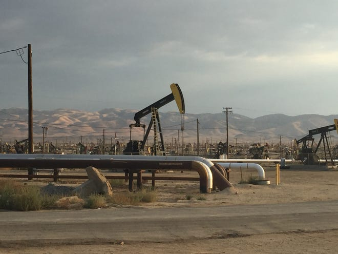 Belridge oil field in Kern County, California.