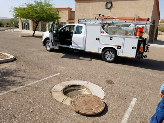 Fountain Hills officials allege a Mesa-based company has dumped 5,000 gallons of waste into the town's sewer system, prompting thousands of dollars in repairs.