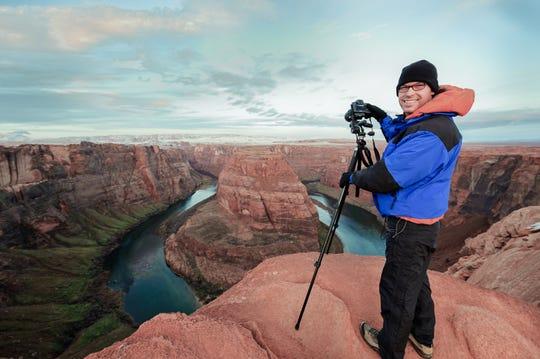 Arizona photographer Andrew Pielage at Horseshoe Bend.