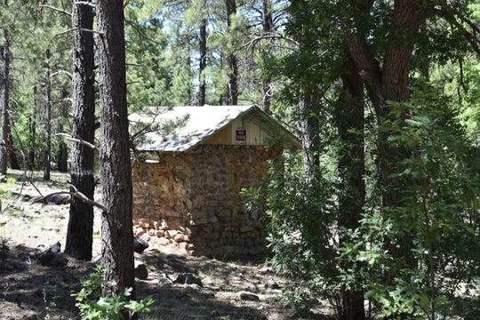 A spring house on the Route 66 ghost road trail near Williams, AZ.