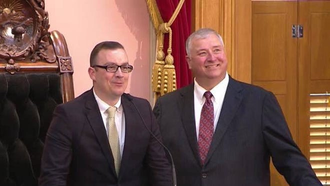 Douglas J. Swearingen, Jr., R-Huron, was sworn in by Ohio House Speaker Larry Householder, R-Glenford, on Thursday as representative to the 89th Ohio House District.