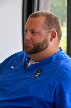 Kennard-Dale head football coach Chris Grube.