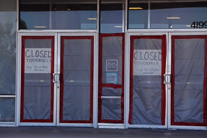 Signs on the north entrance of JCPenney tell customers that the store remains closed on Wednesday, July 31, 2019, as repairs continue in the wake of the June tornado that hit the Richmond Mall.