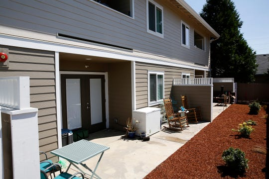 The back area of a new veterans housing complex in Independence, Oregon, on Wednesday, July 31, 2019.