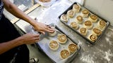 Amanda Nelson owns Jefferson Bakehouse, which sells homemade pastries, here she is making cinnamon chip muffins.