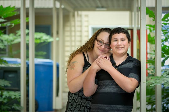 Marco Velazquez, 13, is proud of his mother Shanoa Hammons-Williams for turning her life around after completing the Family Preservation Project during her time at the Coffee Creek Correctional Facility in Wilsonville.