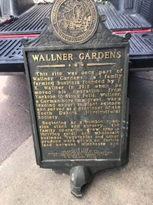 """The four markers damaged at Yankton Trail Park include the Great Bend, Wallner Gardens, Yankton Trail Bridge and """"Mr. Soccer"""" Manfred Szameit. The markers were damaged by spring flooding earlier this year."""