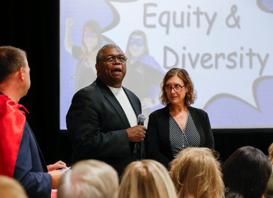 At the Good Morning Springfield event Thursday at Parkview High School, co-chairs Wes Pratt and Jill Patterson talked about the formation of the new advisory council on equity and diversity.