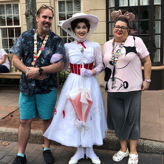 Mark and Jennifer Bowen met Mary Poppins on their most recent trip to Walt Disney World.