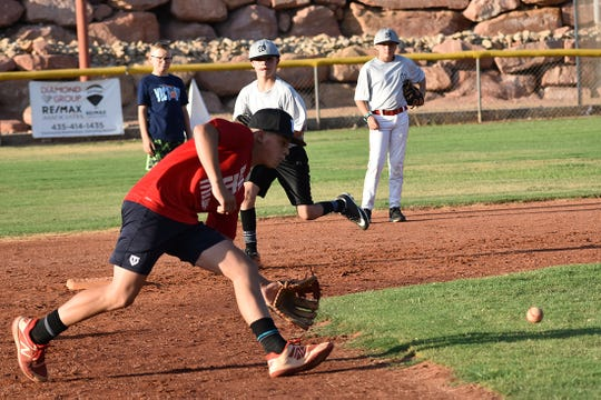 The Washington All-Stars practiced on July 31, working on hitting and fielding.