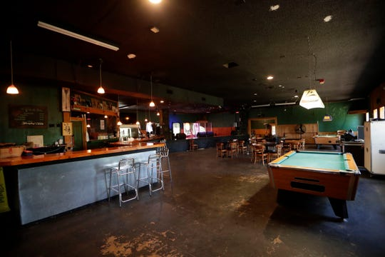 The first bar and stage area in Warrior on the River. The former club is in the process of being revived by the Tallahassee Live Music Charity Group.