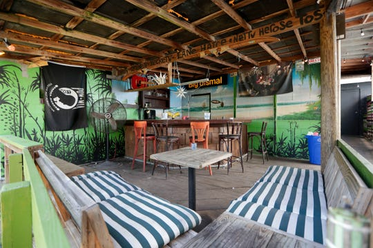 The outdoor tiki bar in the back of Warrior on the River. The former club is in the process of being revived by the Tallahassee Live Music Charity Group.