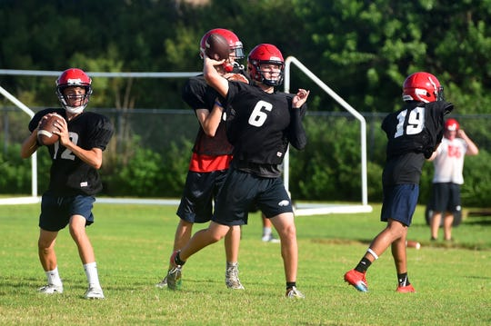 The St. Lucie West Centennial football team hit the practice field on Thursday, Aug. 1, 2019 for the fourth day of practice of the 2019 season. Centennial begins their regular season on Aug. 23 at home against Fort Pierce Westwood.