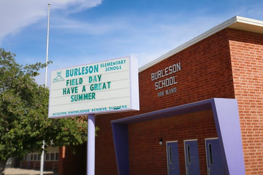 Burleson Elementary School is shown Wednesday, July 31, 2019, in El Paso.