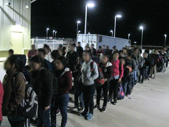 U.S. Border Patrol agents apprehend 225 migrants Tuesday near the Antelope Wells Port of Entry in Southern New Mexico.