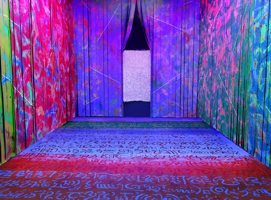 """The Colorspace Room,"" an immersive piece of art that aims to experience artwork from the inside is part of Actual Reality, an exhibit by local artists Carlos Grasso and Peter Fox. The display continues through Aug. 17 at the Museum of Ventura County's Huntsinger Gallery."
