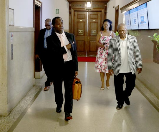 Mount Vernon interim Mayor Andre Wallace enters city hall Aug. 1, 2019. Wallace assumed the title of interim mayor a day after a State Supreme Court judge denied former Mayor Richard Thomas's motion to block Wallace from carrying out mayoral duties.