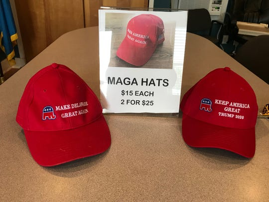 The Delaware Republican Party promises it will sell American-made merchandise after a State Fair-goer alerted party volunteers that their Trump campaign hats are made in China.