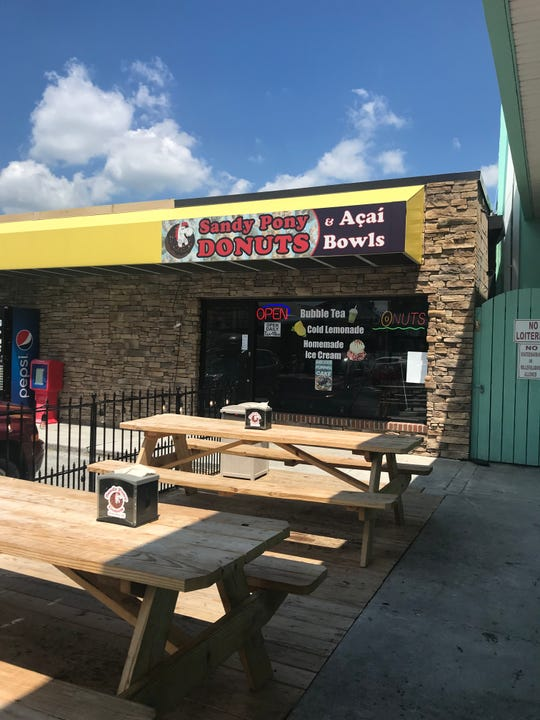 Sandy Pony Donuts, which used to operate a food truck in South Bethany, opened a shop this past May off Garfield Parkway in Bethany Beach. The truck is no longer operating.