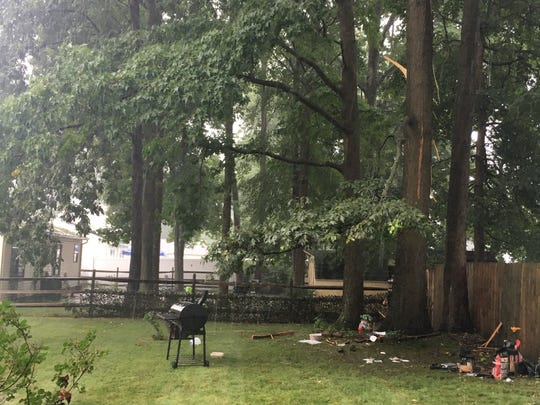 Lightning struck in Ogletown on Thursday.
