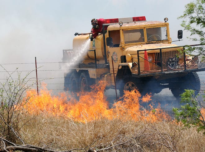 """While the Wichita Falls area is experiencing a """"normal"""" wildfire season, high temperatures and dry conditions can pose a threat for fire danger."""