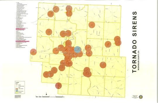 Muskingum County has 44 existing tornado sirens.