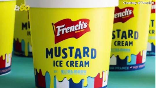Mustard ice cream is a real thing, and you can try some on Saturday