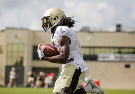 The Saints' Alvin Kamara finished second in the NFL with 14 rushing touchdowns, all but one of them coming in the red zone.