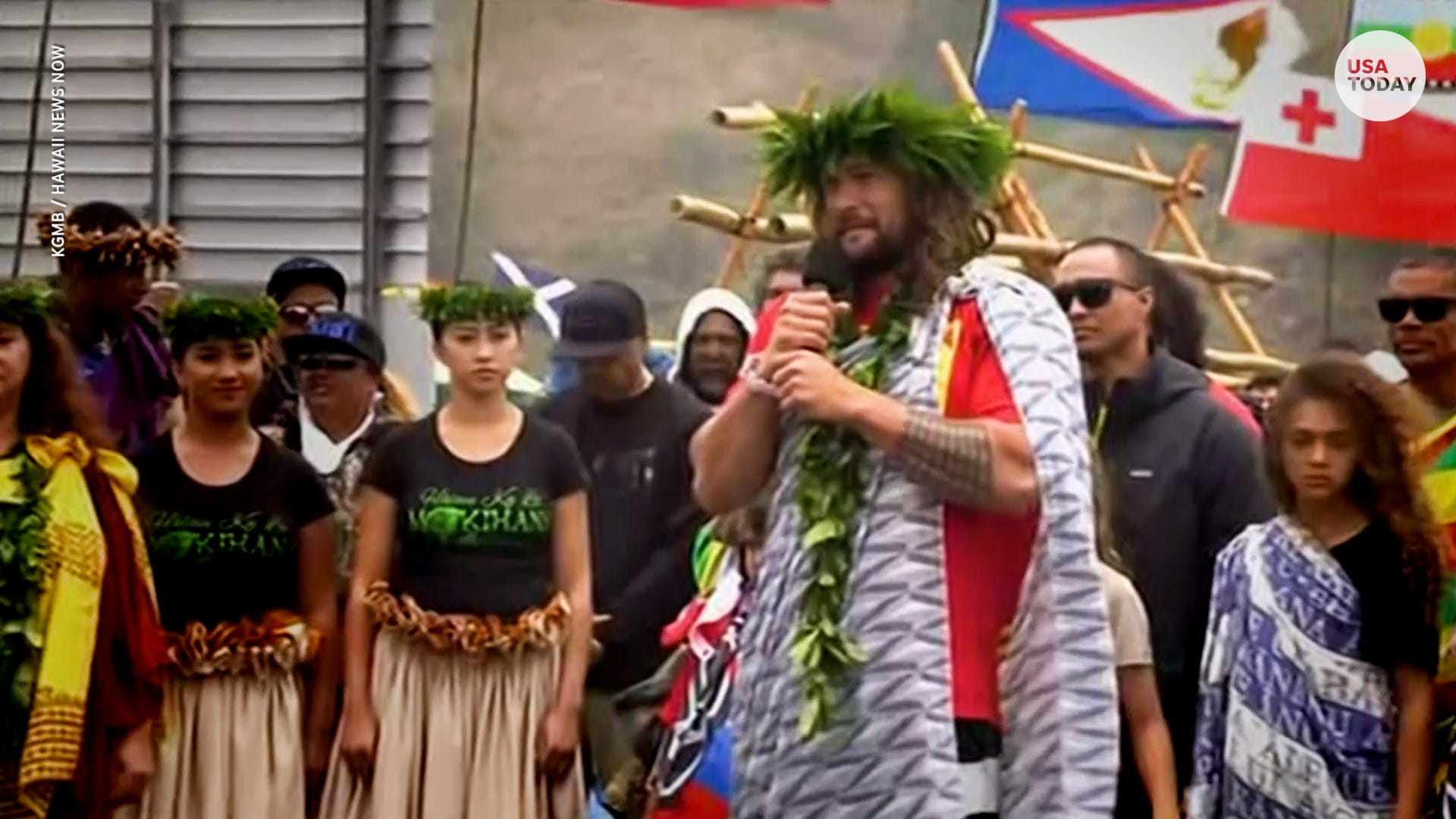 Iowan actor Jason Momoa has spent his summer protesting construction of telescope in Hawaii