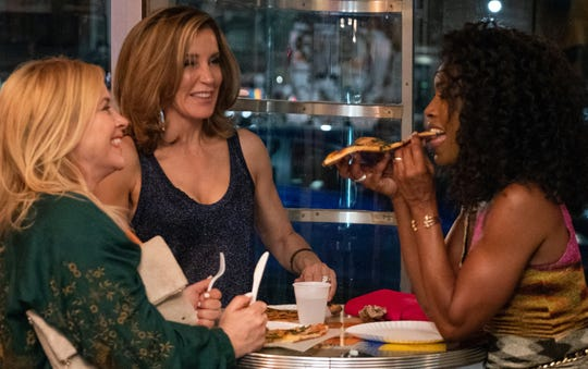 """Long time friends Carol (Angela Bassett), Gillian (Patricia Arquette) and Helen (Felicity Huffman) decide to surprise their grown sons with a visit in """"Otherhood,"""" premiering on Netflix on Aug. 2."""