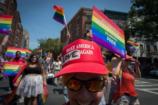 Gay Pride parade in New York on June 26, 2016.