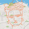 Lenny Maughan's run in the shape of Frida Kahlo in July 2019 (28.9 miles).
